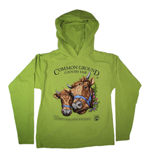 2019 Common Ground Country Fair - Adult Long-Sleeved Hooded T-Shirt