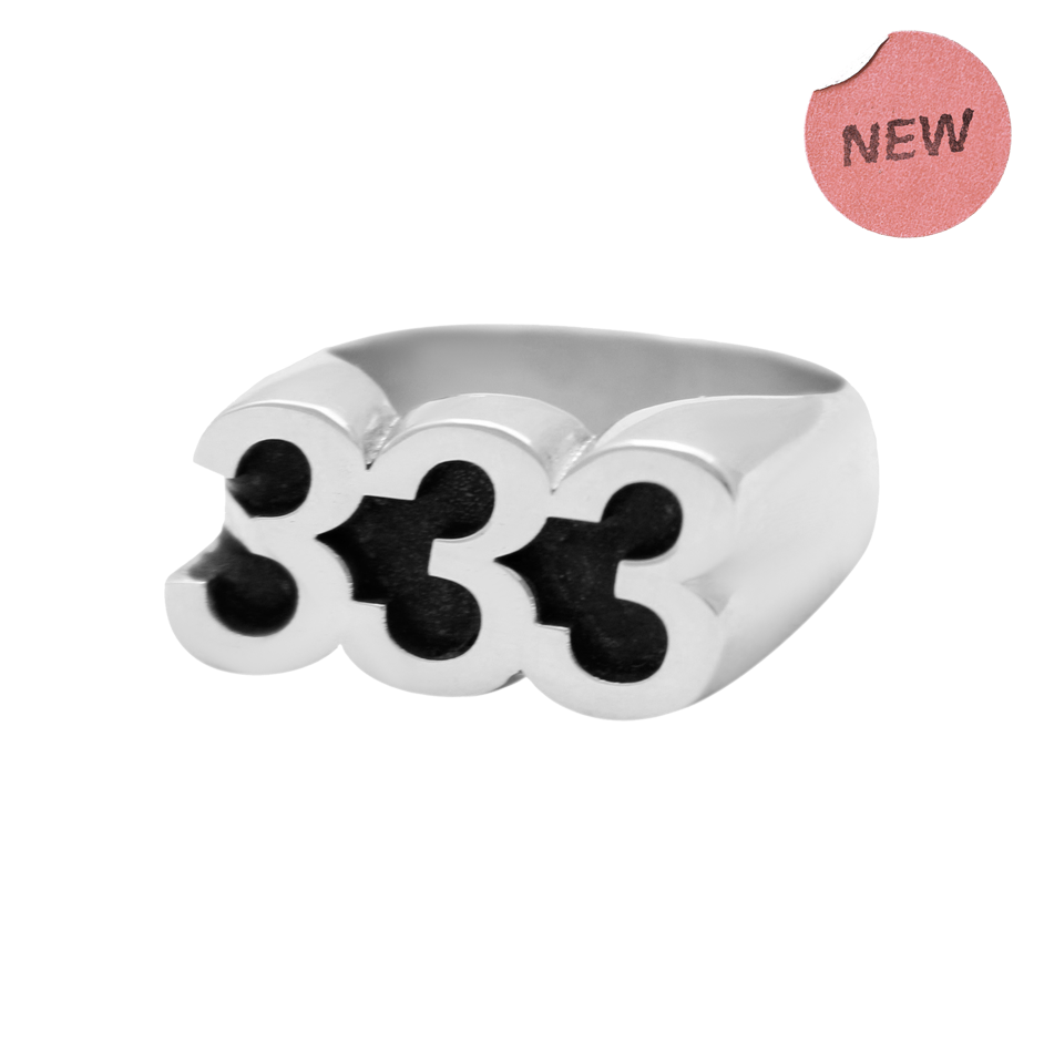 333 Silver Ring