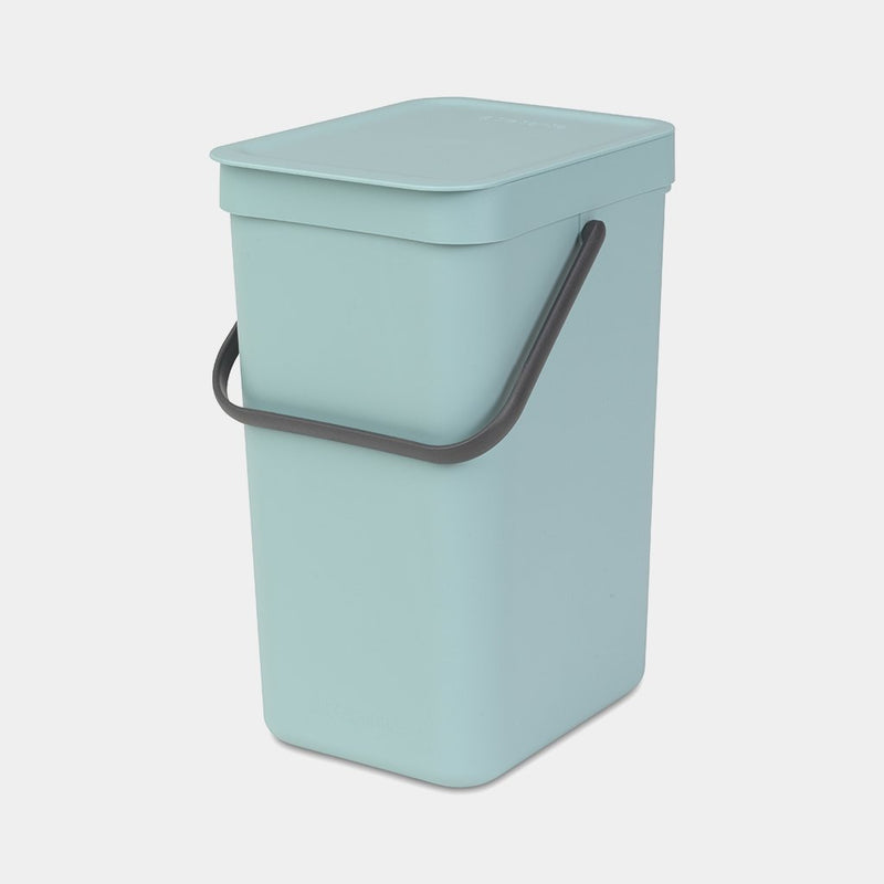 Brabantia Sort & Go Waste Bin, 16L Mint - 109843