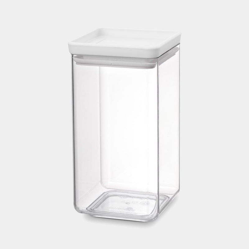 Brabantia Square Canister, 1.6L, TASTY+ Light Grey - 122484