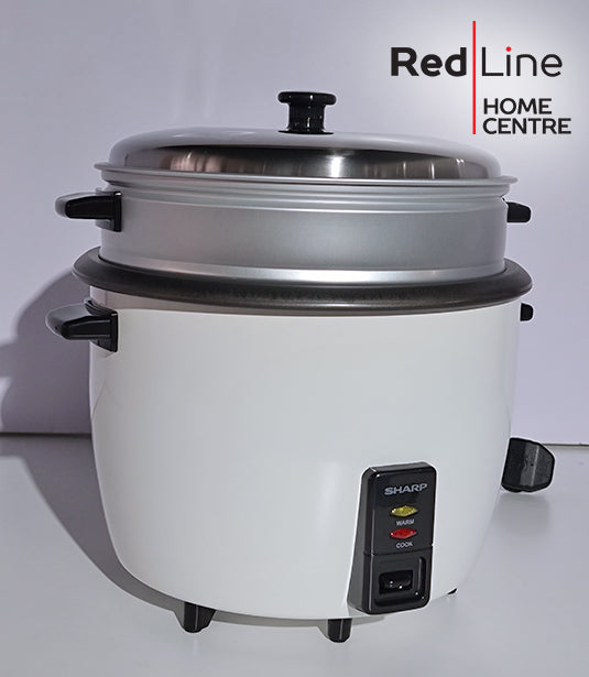 SHARP 1.8L Rice Cooker with Steamer & Coated Inner Pot- KS-H188G-W3