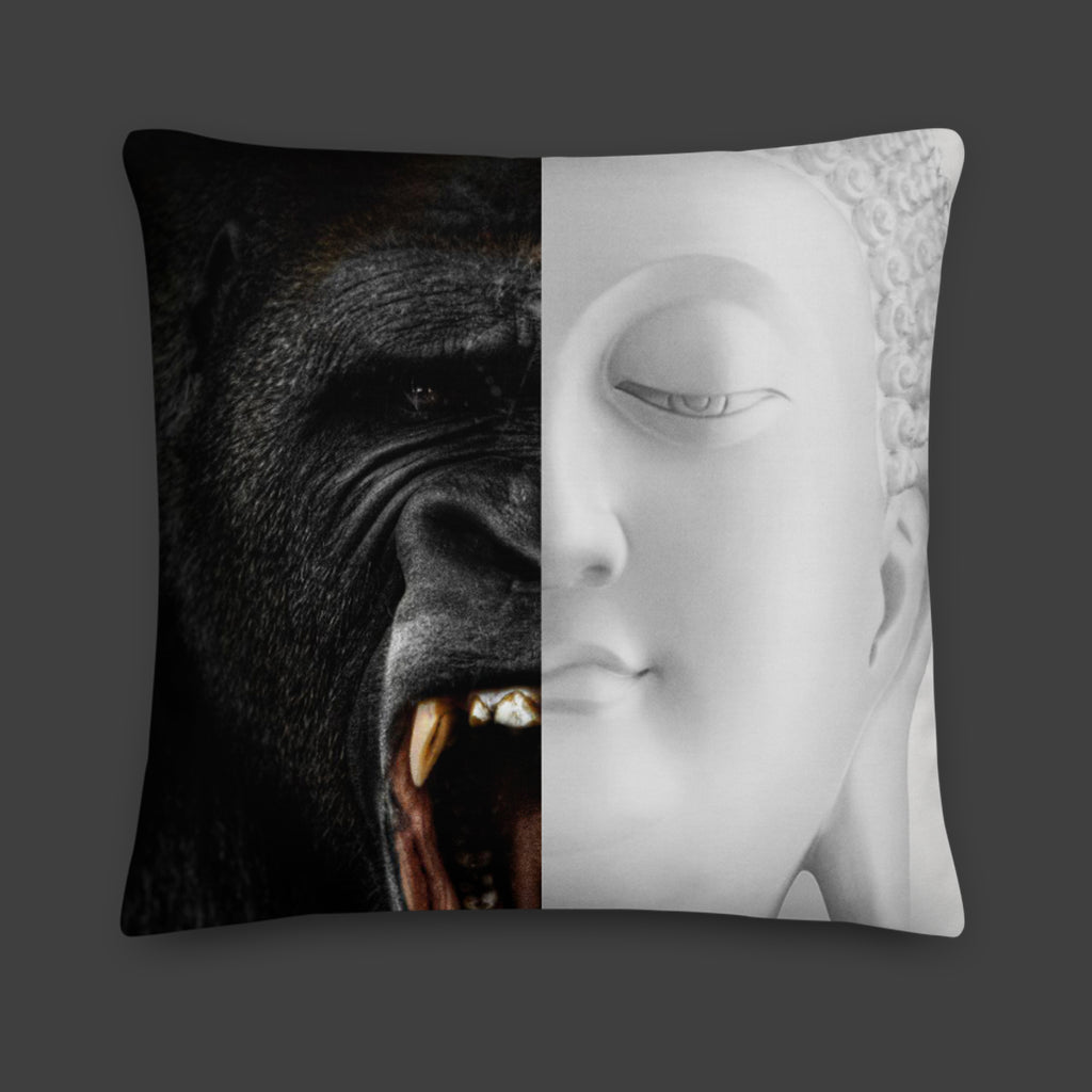 Gorilla / Buddha — Throw Pillow