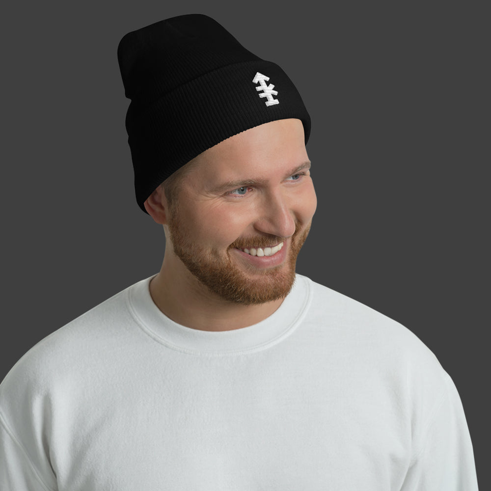 Man Uncivilized Arrow Beanie