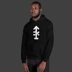 Man Uncivilized Arrow Hoodie