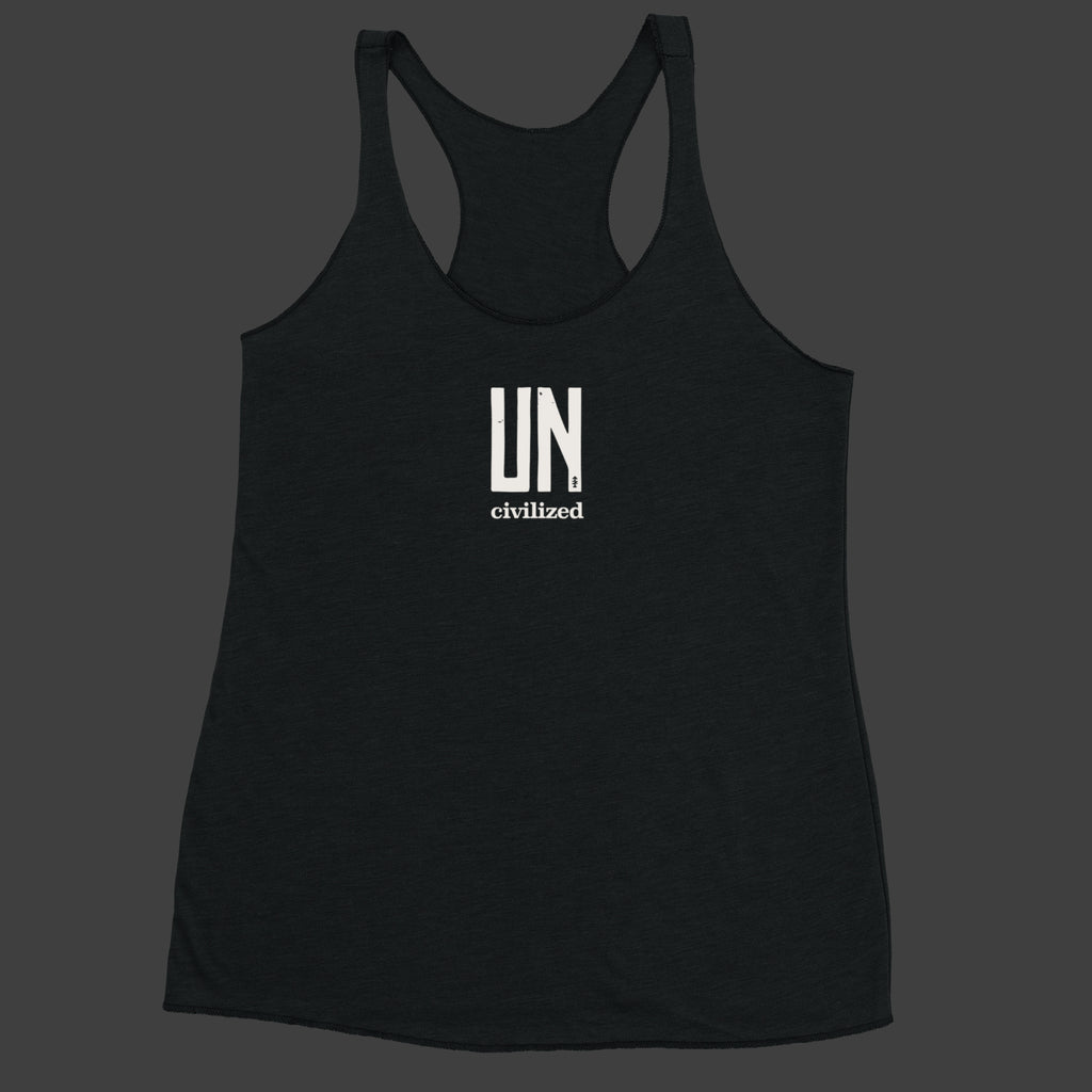Women's UNcivilized Racerback Tank (Black)