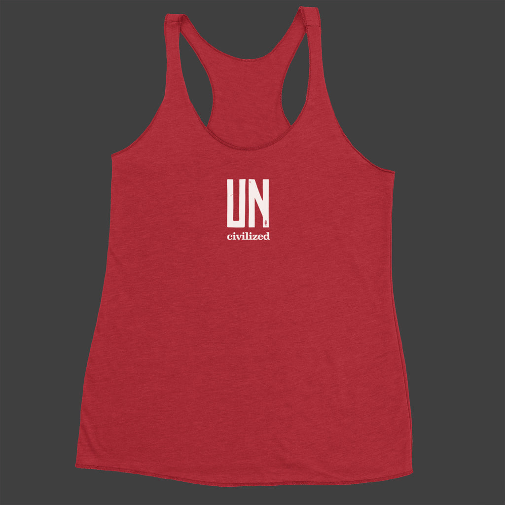 Women's UNcivilized Racerback Tank (Red)