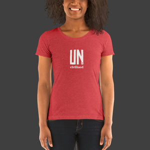 Women's UNcivilized T-Shirt (Red)