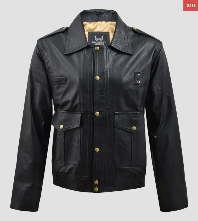 23.independent brothers the police leather jacket
