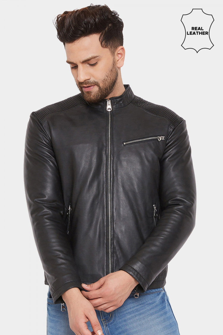 25.justanned genuine real leather jacket