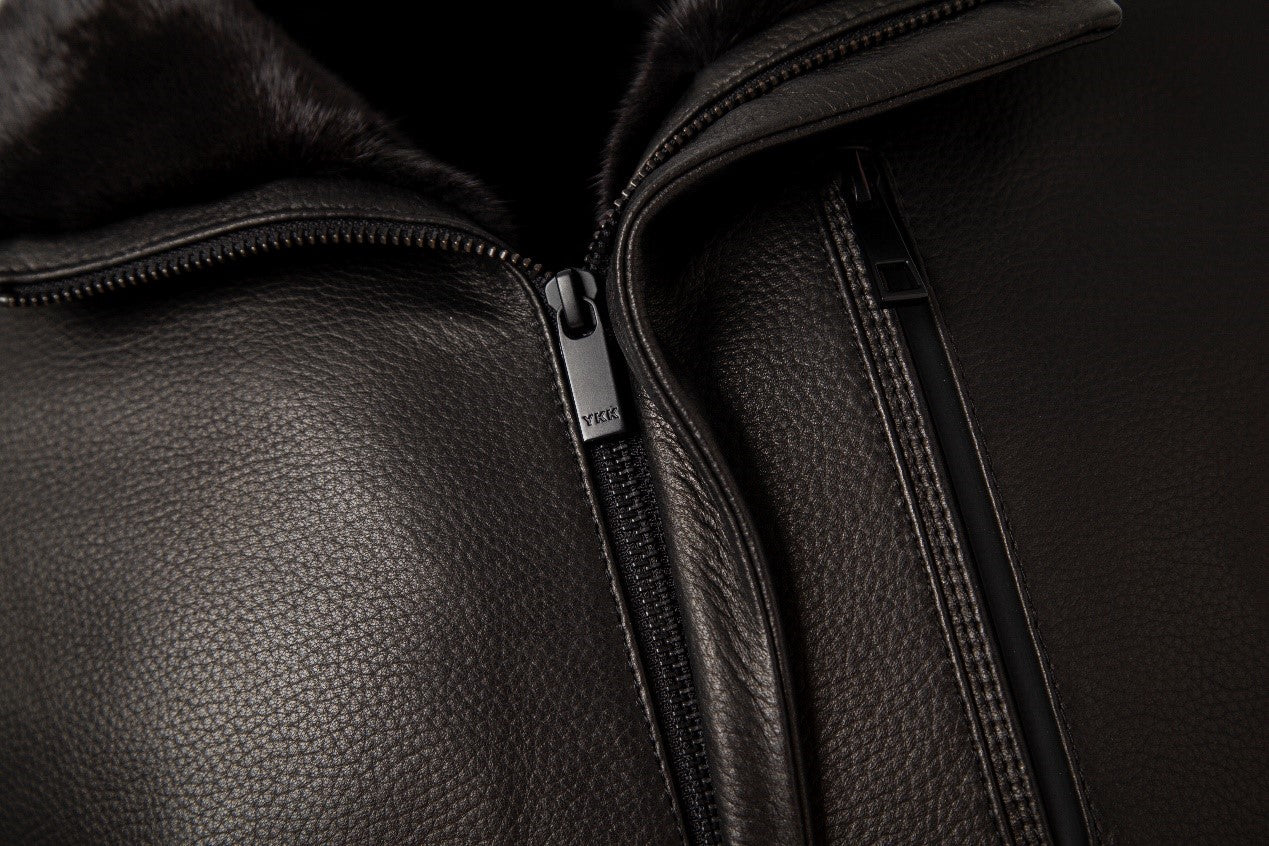 difference between goatskin and sheepskin with leather jacket_detail