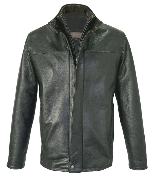 41.remy leather 5096 mens leather jacket in smoke