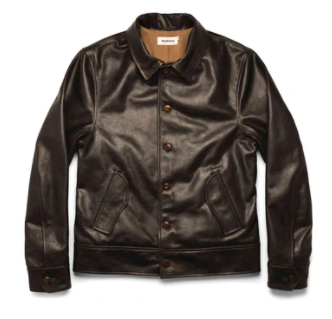 47.taylor stitch the cuyama jacket in cola leather