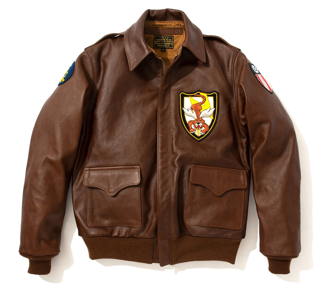 48.the real mccoy s type a-2 flying tigers leather jacket