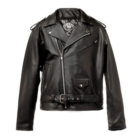 50.the alley chicago leather biker jacket