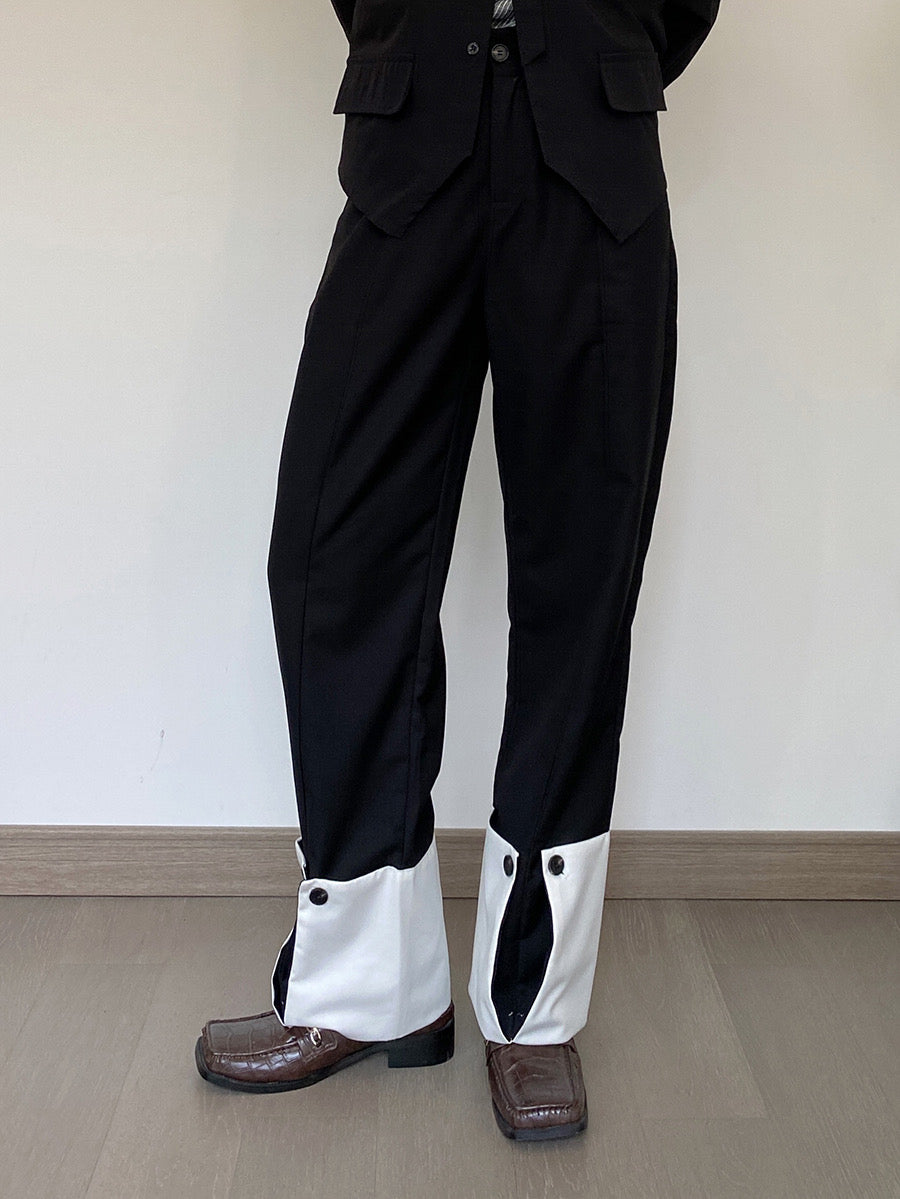 Curved-Hem-Trousers