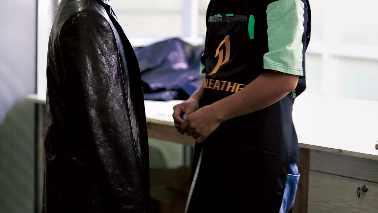 Ready-To-Wear process of making a leather jacket
