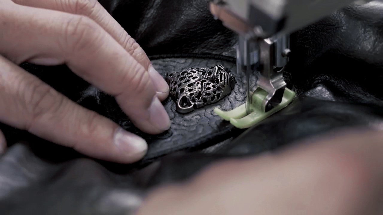hardware embroidery of making a leather jacket