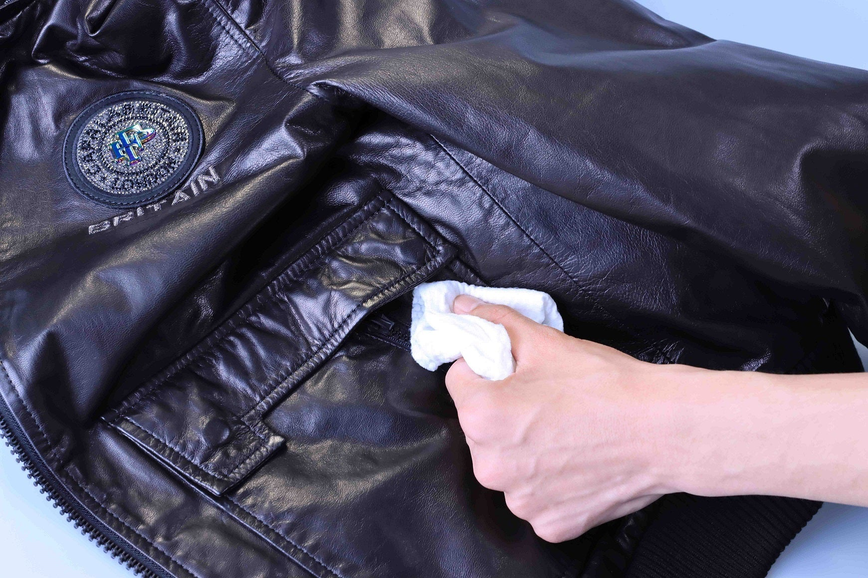 how to clean or care a leather jacket