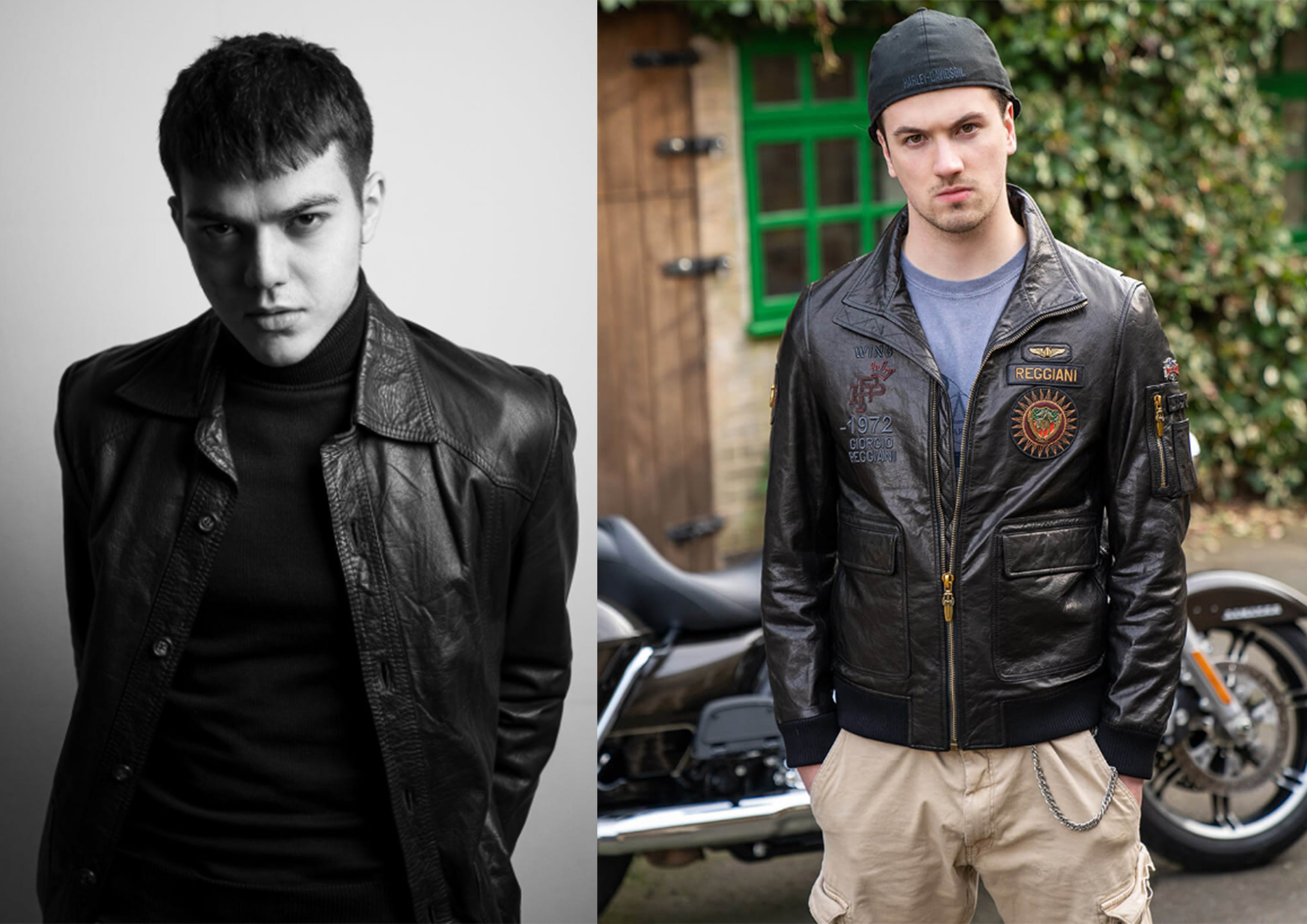 leather jacket fits