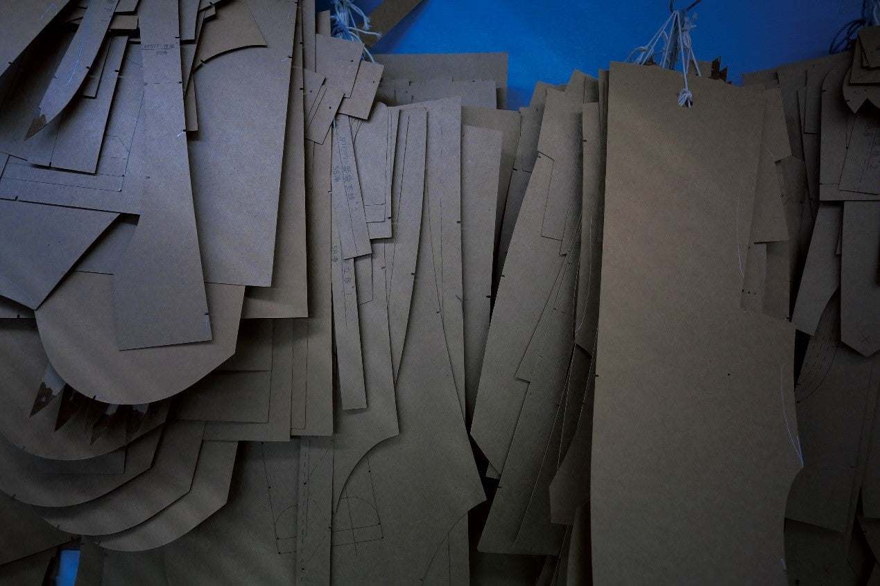 paper pattern of making a leather jacket
