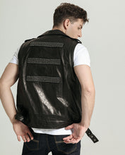 Load image into Gallery viewer, Belted Vegetable Tanned Goatskin Vest with Beads