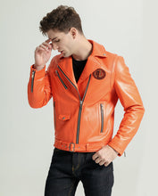 Load image into Gallery viewer, Casual Zippered Sheepskin Moto Jacket with Belt