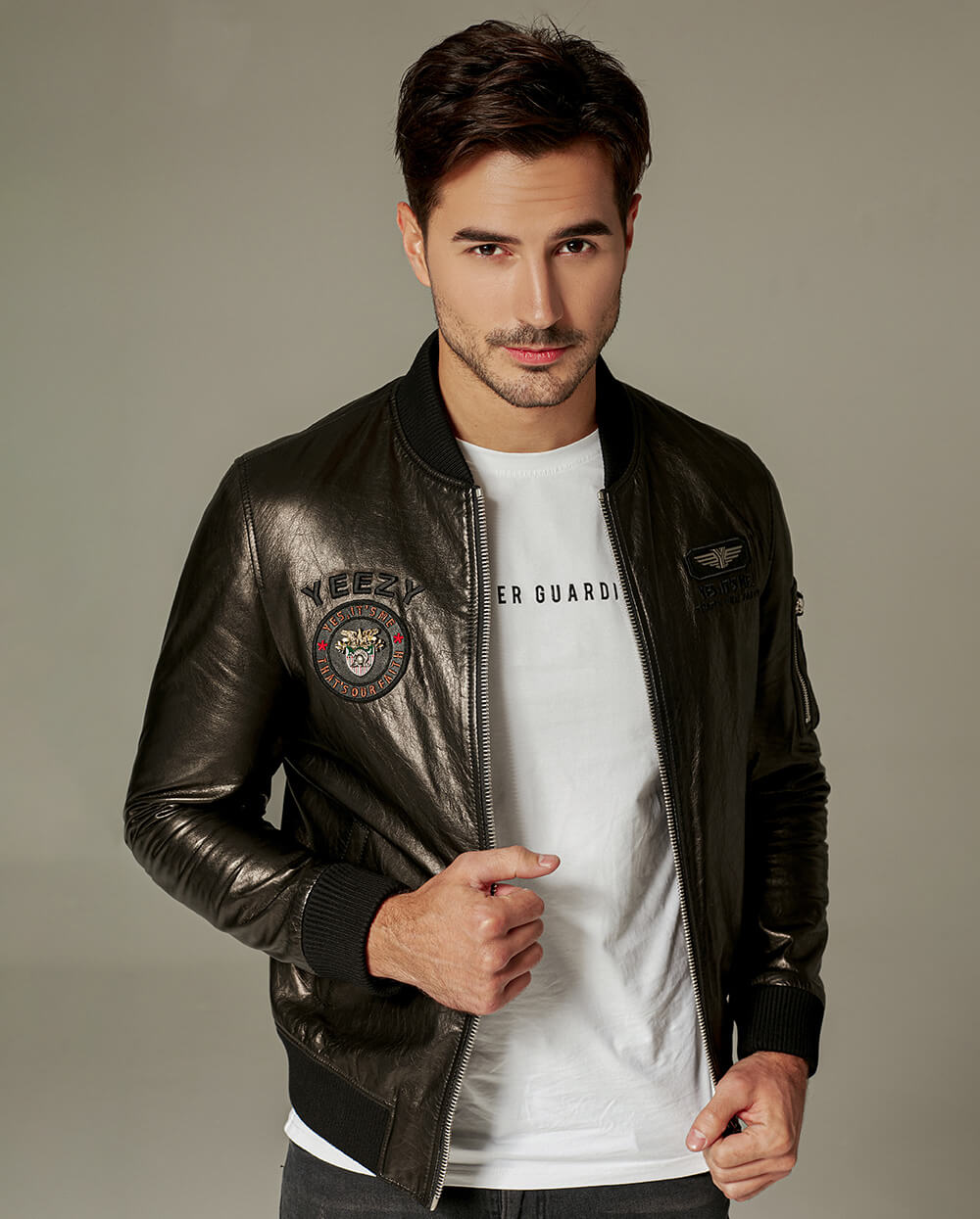 Classic Embroidered Vegetable Tanned Baseball Jacket