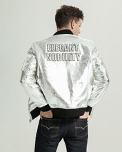 Load image into Gallery viewer, Classic Silver Embroidered Vegetable Tanned Baseball Jacket