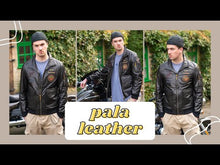Load and play video in Gallery viewer, P PALALEATHER Fashionable Embroidery Goatskin Casual Moto Jacket
