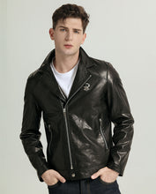Load image into Gallery viewer, Vegetable Tanned Goatskin Moto Jacket with Adjustable Zippered Cuff