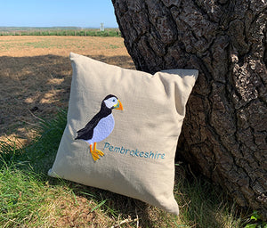 Pembrokeshire Embroidered Cushion