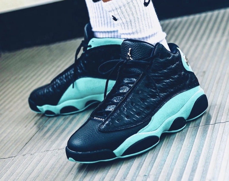Jordan 13 Retro Black Island Green