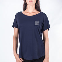 Load image into Gallery viewer, Women's Wave Tee (Navy)