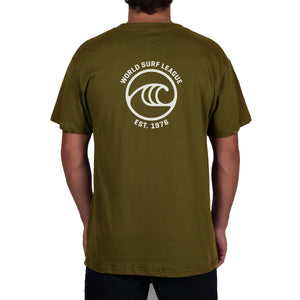 WSL Backside Icon Organic Men's Tee (Dark Green)