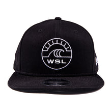 Load image into Gallery viewer, WSL New Era Groundswell Snapback Hat (Black)
