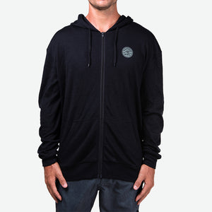 Merino Men's Hooded Fleece (Black)