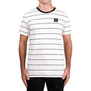 WSL Stripe Knit Men's Tee (White)
