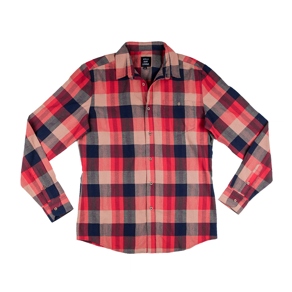 WSL Men's Flannel Shirt (Red)