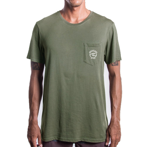 WSL Men's Pocket Tee (Army Green)