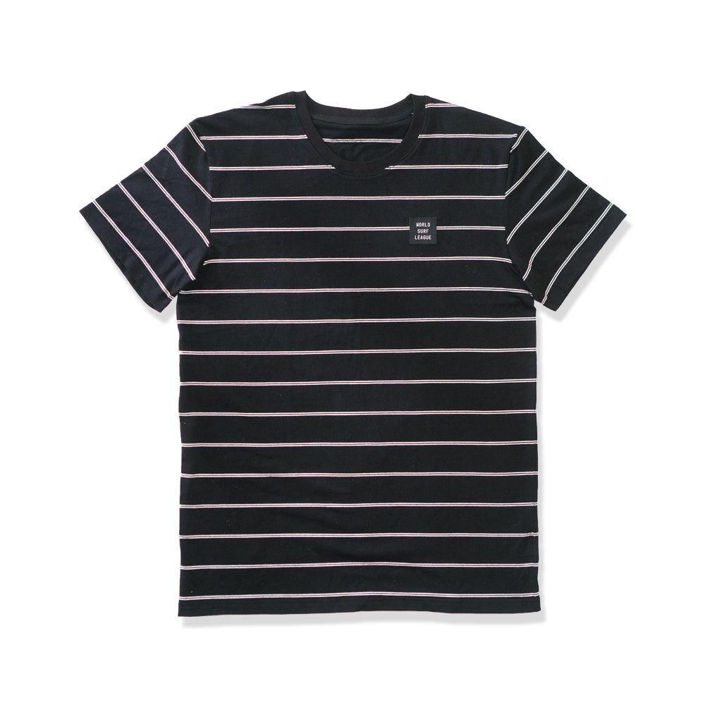 WSL Stripe Knit Men's Tee (Black)