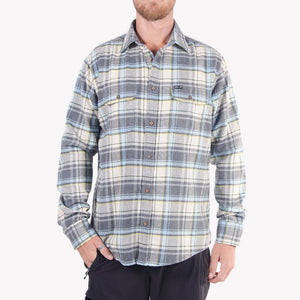 Men's Flannel Shirt (Beige)