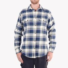 Load image into Gallery viewer, Men's Flannel Shirt (Blue)