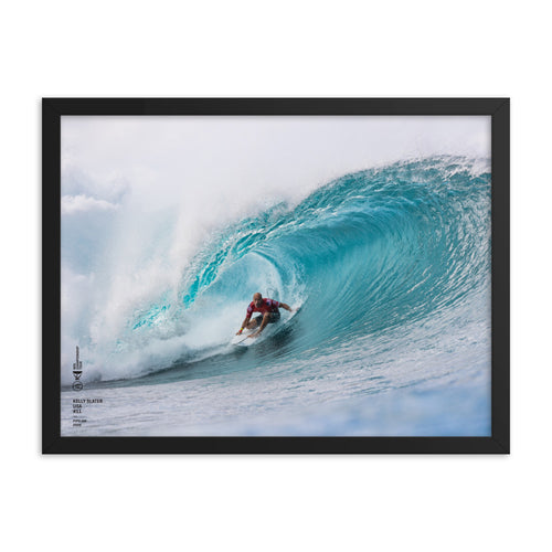 Kelly Slater Poster (Framed): Pipeline, 2020