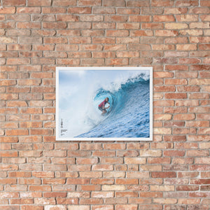 Owen Wright Poster (Framed): Tahiti, 2018