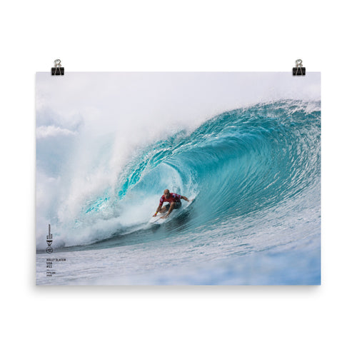Kelly Slater Poster (Unframed): Pipeline, 2020