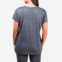 Load image into Gallery viewer, Merino Groundswell Women's Tee (Heather Black)