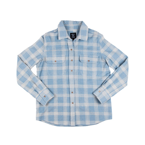 WSL Women's Flannel Shirt (Blue)