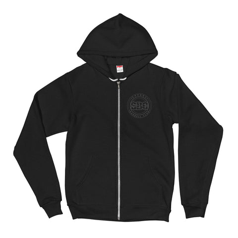 Savage Pillars Zipper Hoodie - Gray Print