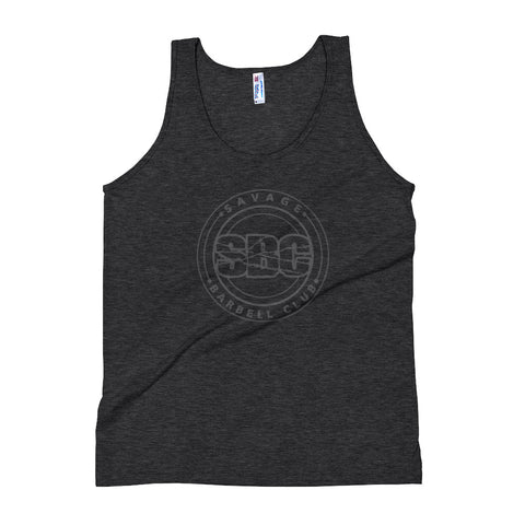 Savage Pillars Unisex Tank Top - Gray Print