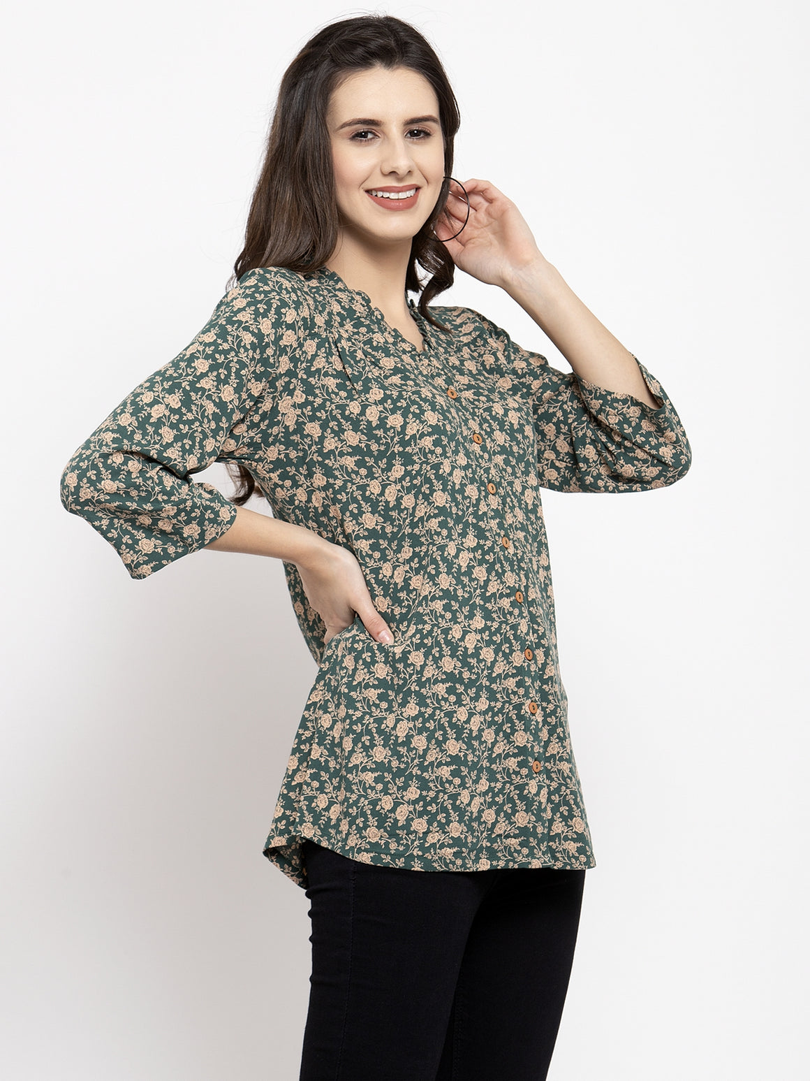 Ayaany Women Green Casual Top